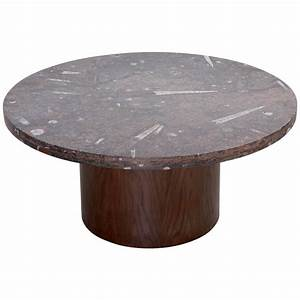 heinz lilienthal coffee table with fossil stone top for With fossil coffee table