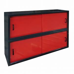Schiebetür Für Garage : metall wandschrank h ngeschrank 2x2 schiebet ren f r garage werkstatt rot anthr ebay ~ Sanjose-hotels-ca.com Haus und Dekorationen