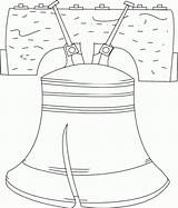 Liberty Bell Coloring Printable Pages July Symbols Outline Fourth Activity 4th Bells American Kindergarten Freedom Template Crafts Projects Patriotic Printables sketch template