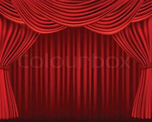 background with red velvet curtain vector illustration With red curtain background vintage