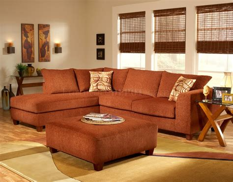 terracotta sofa living room terracotta fabric modern sectional sofa w optional ottoman