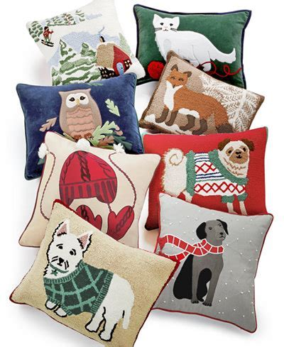 CLOSEOUT! Martha Stewart Collection Winter and Animals Decorative Pillow Collection, Only at