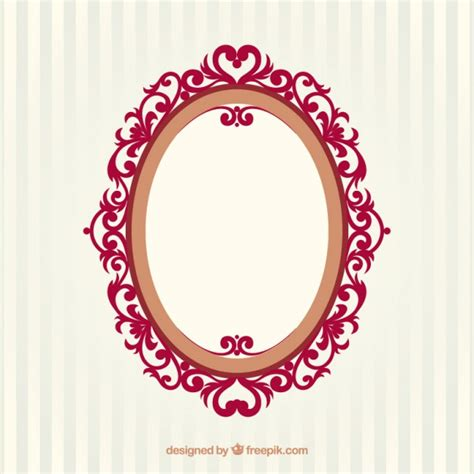 pretty picture frames oval vintage frame vector free 1649