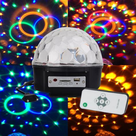 disco ball christmas lights remote control mp3 stage laser lights dj disco crystal
