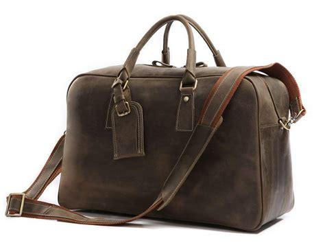 suitedman travel bag vintage camel leather