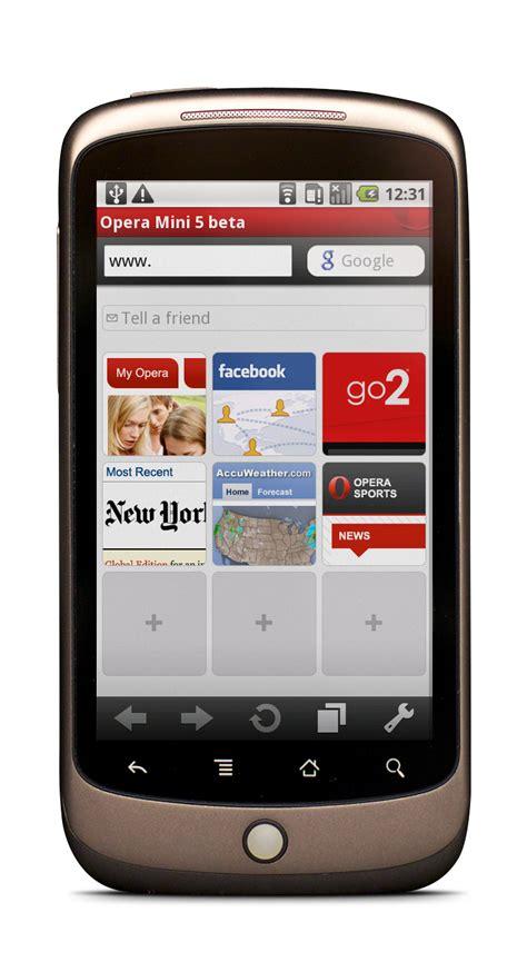 operamini5 android speeddial fone arena