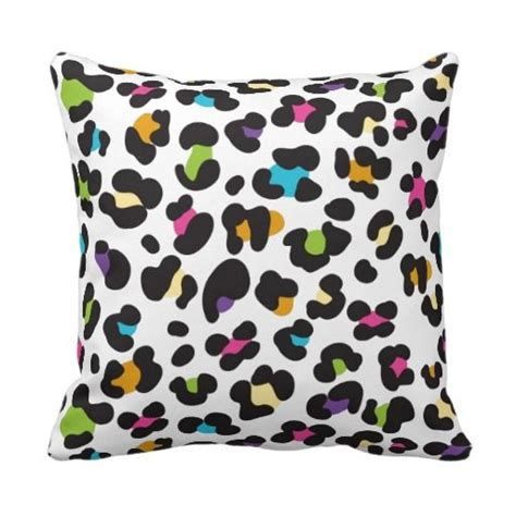 teen decorative pillows colorful cheetah leopard print gifts for throw