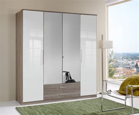 Mirrored Wardrobes For Sale by Quest White Robe 2 Door Sliding Wardrobe With 1 Mirrored