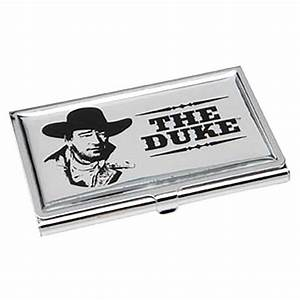 John wayne the duke business card holder vandor john for Duke business cards