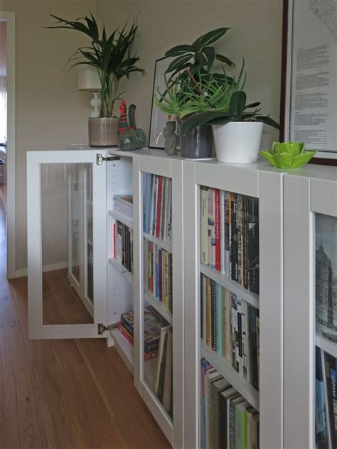 billy bookcases  grytnaes glass doors ikea bookcase