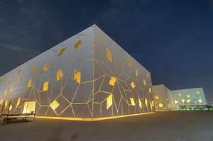 Quasi-crystal pattern of exterior facade of Liberal Arts ...