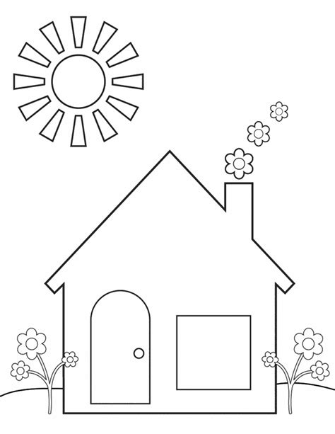 spring home  printable coloring pages