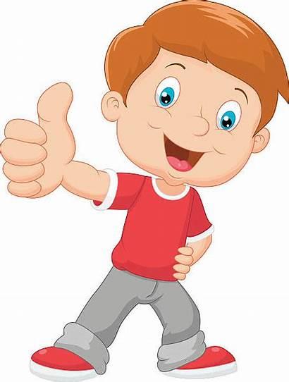 Clipart Boy Cartoon Smiling Child Vector Giving