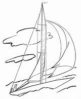 Coloring Sailboat Boats Ships Sail Boat Bluebonkers Loudlyeccentric Popular Coloringhome sketch template