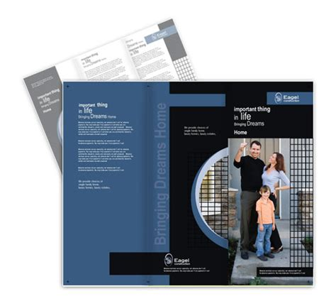 quality real estate design brochure  postcard templates