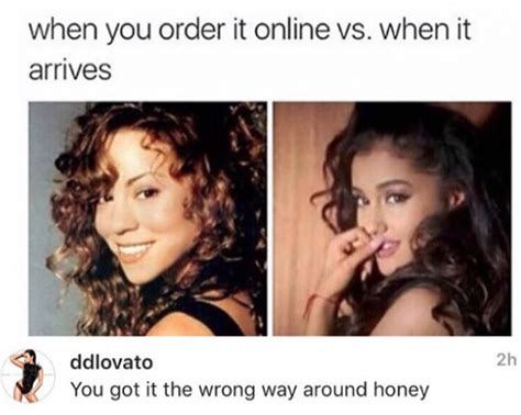 Ariana Grande Meme - demi lovato threw shade at mariah carey over an ariana grande meme very real