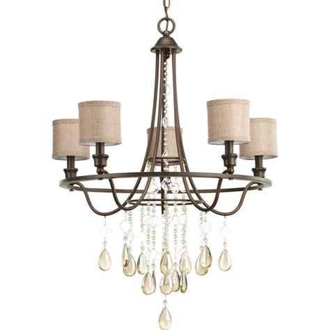 progress lighting chandelier progress lighting flourish collection 5 light cognac
