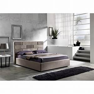 Lit Moderne Design : lit double de design moderne avec coffre 160x190 200 cm gin ~ Nature-et-papiers.com Idées de Décoration