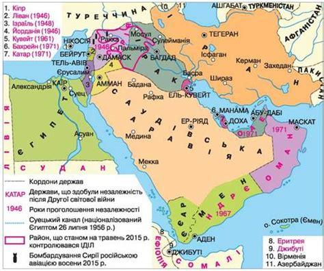 Країни Близького Сходу в другій половині ХХ — на початку ...