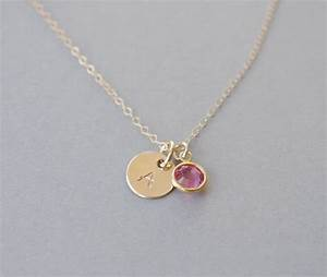 Girl initial necklace little girl necklace personalized for Girls letter necklace