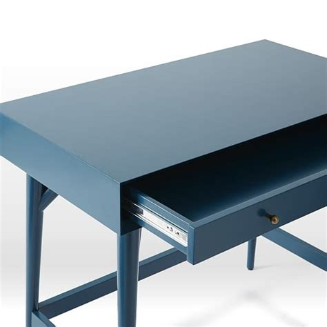 mid century mini desk mid century mini desk thai blue west elm