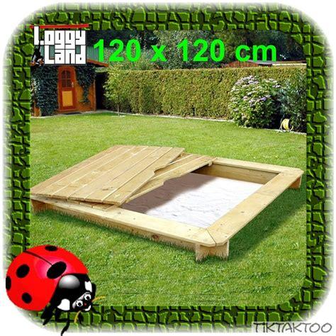 sandkasten aus holz mit abdeckung sandkasten sandkiste aus holz mit deckel 120x120 cm abdeckung neu kdi sandbox ebay