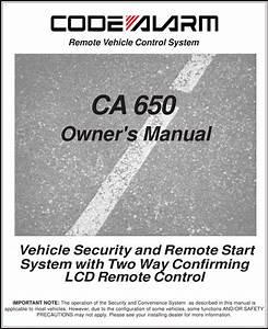 Code Alarm Ca 650 Users Manual Ax901 Owners Reva
