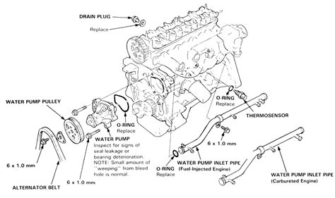 1989 Honda Accord Engine Diagram by 1989 Honda Accord 2 0l 2bl Sohc 4cyl Water