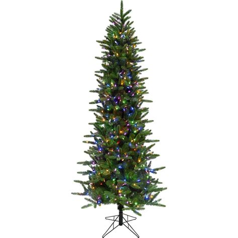 home depot winterberry outdoorlit tree national tree company 7 5 ft pre lit dunhill fir hinged