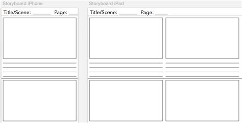 universal storyboarding template   mobile
