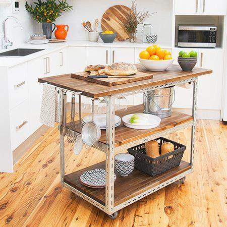 diy mobile kitchen island  workstation steel shelving