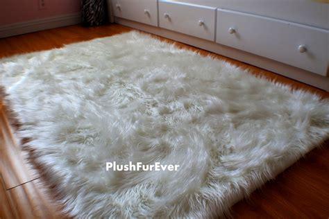 flokati teppiche 4 39 x 5 39 luxury black brown white faux fur rug