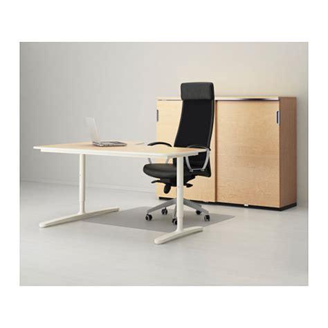 bekant corner desk right birch veneer white 160x110 cm ikea