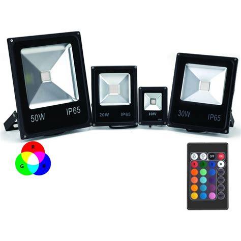 le exterieur avec telecommande projecteur led couleur rgb int 233 rieur ext 233 rieur plat avec t 233 l 233 commande 10w 20w 30w 50w