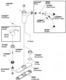 kohler fairfax kitchen faucet diagram kohler kitchen faucet parts tomthetrader