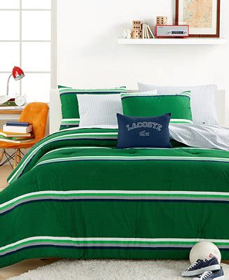 33032 lacoste bed set closeout lacoste college collection green stripe