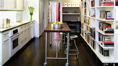 Kitchen: small kitchen table solutions No Room For Kitchen