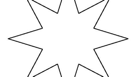 point star pattern   printable outline