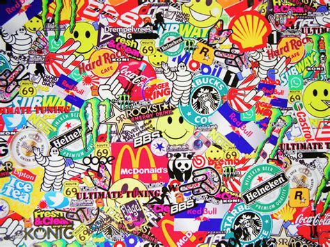 In this man made collection we have 20 wallpapers. Sticker Bomb wallpapers, Man Made, HQ Sticker Bomb ...