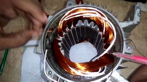 Motor Rewinding by How To Make Single Phase Motor 2 Pole Basket Rewinding