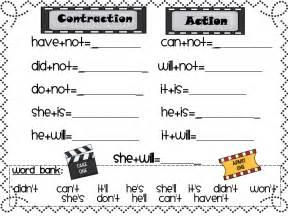 First Grade Contraction Worksheets