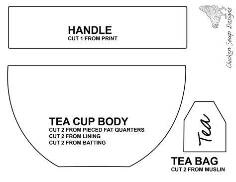 tea cup template chicken soup designs zippered teacup pouch