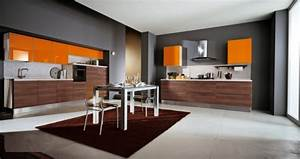 orange and grey perfect combo for fall home decor With kitchen cabinets lowes with orange and gray wall art