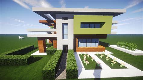 Wie Baut Moderne Häuser In Minecraft by Moderne Villa Bauen