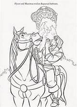 Coloring Tangled Pages Printable Maximus Horse Rapunzel Disney Flynn Colouring Sheet Prince Sheets Pascal Gothel Barbie Filminspector Printables Princess Hair sketch template