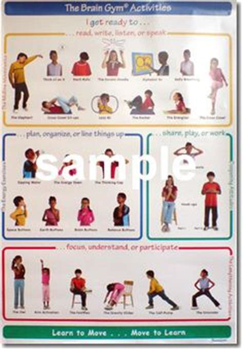brain gym exercises for preschoolers brain posters word doc photos of movements with 556