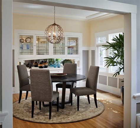 Craftsman Lighting For Dining Room With Round Table #51079