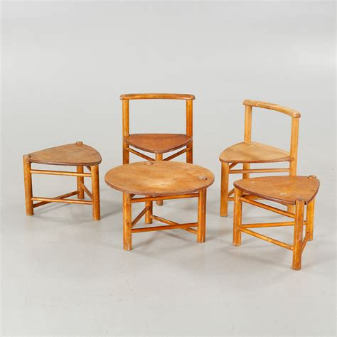 five children furnitures designed by elis borg for firm