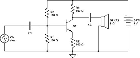 Transistors Question About Bjt Audio Amplifier Circuit