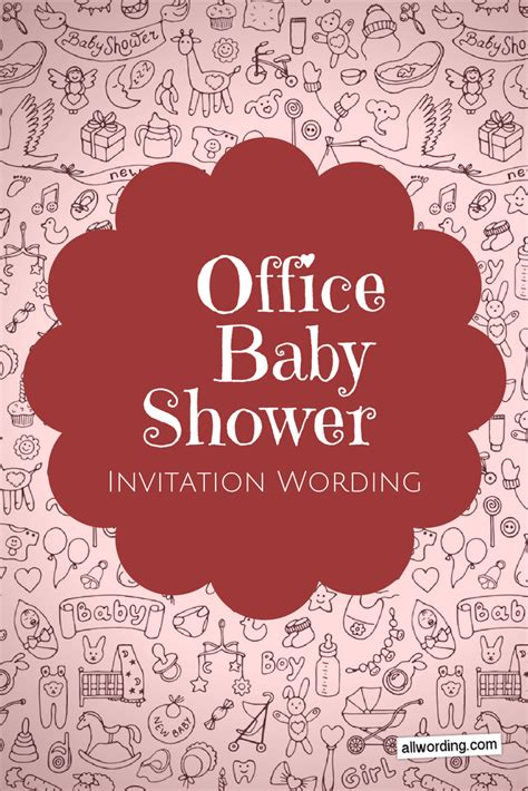 office baby shower invitation wording  allwording